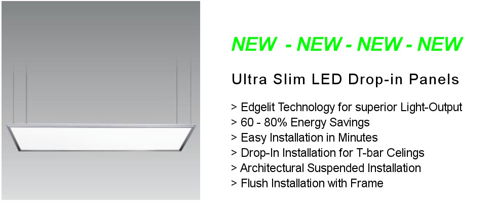 NEW: The Ultra Slim LED Drop-In Panel